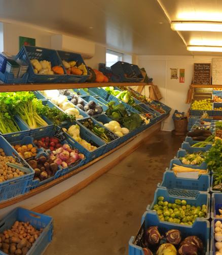 Vente de produits de la ferme à Gozée